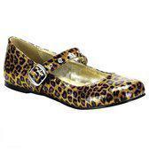 Gouden luipaardprint ballerinas 41