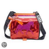 Canvas Kindertas Paard Rood Oranje