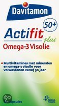 Davitamon Actifit 50+ Omega-3 Visolie - 120 st - Multivitaminen