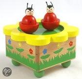 Simply for kids Houten muziekdoos dansende lieveheersbeestjes