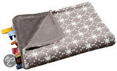 Crib Blanket Diamond Taupe (75CM x 100CM)
