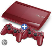 Sony Playstation 3 500 GB Super Slim Rood + Extra Controller Rood
