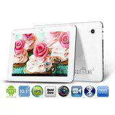 10.1-inch Cortex A9 Quad Core 1.8GHz 2GB-ROM 16GB-RAM Android 4.2.2 (Wit)