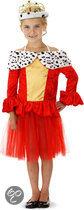 Koninginnejurk Hermelijn - Kostuum - Maat 104-116 - Rood