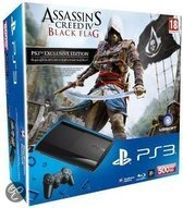 Sony PlayStation 3 Console 500GB Super Slim + 1 Wireless Dualshock 3 Controller + Assassins Creed 4: Black Flag - Zwart PS3 Bundel