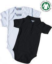 Link Kidswear Babyset Rompertjes set, babyromper korte mouw en romper polo kraag set BIO 100% katoen GOTS
