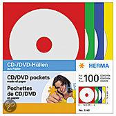 Herma CD/DVD-hoezen uit Papier 100 hoezen kleurgesorteerd 1143