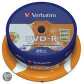 Verbatim 43634 DVD-R Gold Archival Schijven - 25 Stuks / Spindel