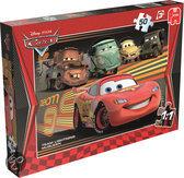 Jumbo Disney Cars 2 - Puzzel - 4x 50 stukjes