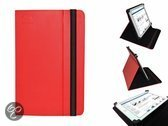 Hoes voor de Samsung Ativ Tab 3 , Multi-stand Case, Rood, merk i12Cover