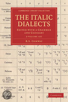 The Italic Dialects 2 Volume Set