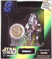 Star Wars Speelgoed: Chewbacca with new Millennium Minted Coin