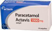 Actavis Paracetamol 1000 mg - 10 Zetpillen - Pijnstillers