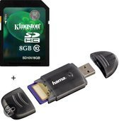 Benza - Kingston Security Digital (SD) Card/Kaart SDHC 8GB Class 10 (Inc. USB SD/SDHC Kaartlezer) Geheugenkaarten