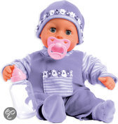 Bayer Pop My First Words Baby met 24 Functies - 38 cm - Paars