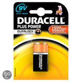 Duracell Plus Power 9V Alkaline Batterijen 1x Pak
