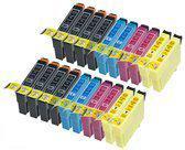 Compatible Epson T1816 / Epson 18XL / Epson 18 met chip, 20 pak. 8 Zwart, 4 Cyaan, 4 Magenta, 4 Geel.