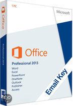 Microsoft Office Microsoft Office Professional 2013   OEM   32/64 bits   Download + Licentie   Installatietaal naar keuze  Cursus naar keuze