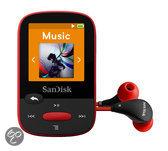 Sandisk Sansa Clip Sports - MP3-speler - 4 GB - Rood