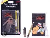 Secret Agent notitieblok met geheime pen