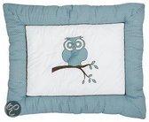 Jollein - Little Naturals - Organic Owl Boxkleed - Turquoise / Bruin