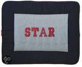 Kruipdeken Denim Star applicatie