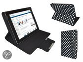 Polkadot Hoes  voor de Samsung Galaxy Tab 7.7, Diamond Class Cover met Multi-stand, Zwart, merk i12Cover