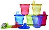 Nûby - Herbruikbare Bekers Met Drinktuit - Verschillende kleuren