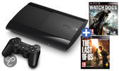 Sony PlayStation 3 Console 500GB Super Slim + 1 Controller + Watch Dogs + The Last Of Us