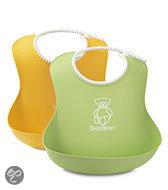 BabyBjörn - Zachte Slab  2-pack - Groen/Geel