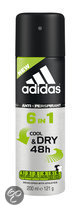 Adidas Dry Max Action 3 6in1 for him - 250 ml - Bodyspray