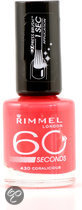 Rimmel 60 seconds finish nailpolish - 430 Coralicious - nagellak