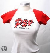 Psv Dames t-shirt skinny wit rood maat m