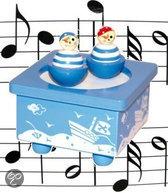 Simply for kids Houten muziekdoos dansende piraatjes