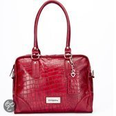 Little Company - Black Label Croco Shoulder Luiertas - Rood