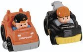 Fisher-Price Wheelies little people 2-pack bouwvoertuigen