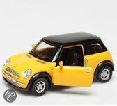 Welly Mini cooper geel