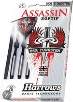 Harrows Assassin 80% Tungsten Softip 16 Gr - Dartpijlen