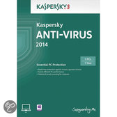 Kaspersky Anti Virus 2014 - Benelux / 3 PC's / DVD