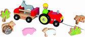 Janod Trekfiguur Tractor Boerderijdieren