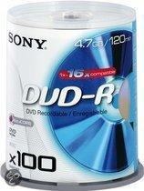 Sony DVD-R 120min/4,7GB 16x 100 stuks op spindle