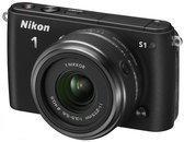 Nikon 1 S1 + 1 NIKKOR VR 11-27.5mm + VR 30-110mm - Systeemcamera - Zwart
