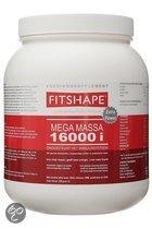 Fitshape Mega Massa 16000 Vanille - Sportsupplement - 1200 gram