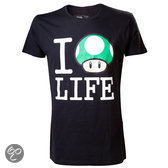 Nintendo - I Love Life T-Shirt - L (Black)