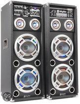 Skytec KA-210 - USB/RGB LED - Actieve Luidsprekers - 2 stuks - Zwart