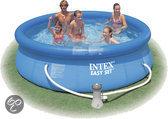 Intex Easy Set Opblaasbaar Zwembad - 244x76 cm - inclusief 12V Filterpomp