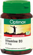 Optimax Vit D3 25mcg - 365 Tabletten