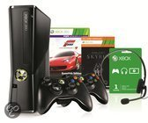 Microsoft Xbox 360 Slim 250GB + 2 Controllers + 2 Games + 1 Maand Xbox Live Gold