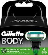 Gillette Body Shave voor Mannen - 4 Mesjes - Scheermesjes
