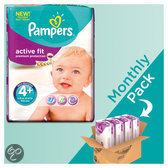 Pampers Active Fit - Maat 4+ Maandbox 140 st.